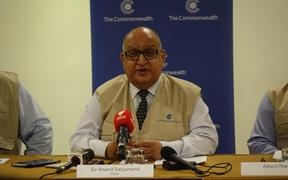 The chair of the Commonwealth Observer Group, Sir Anand Satyanand.