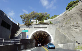 WELLINGTON - MARCH 01:Mount Victoria Tunnel on March 01 2013 in Wellington, New Zealand. round 45,000 vehicles pass through the Mount Victoria each day.