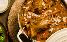 Indian Lamb Shank Curry with Rice