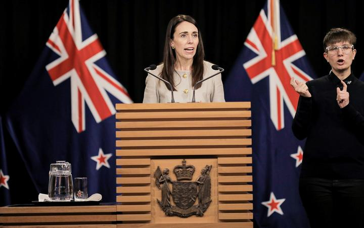 Prime Minister Jacinda Ardern announcing the Cabinet reshuffle.