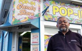 Pop-In Candy Store, owner Arun Patel, says his business has suffered.