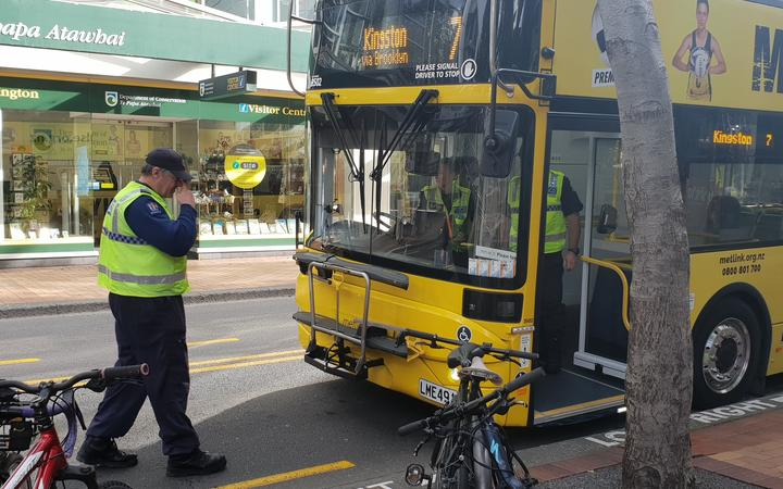 A pedestrian has been seriously injured after being hit by a bus in central Wellington.