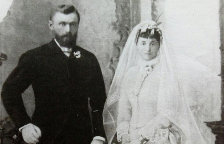 Dora and John Jepson on their wedding day