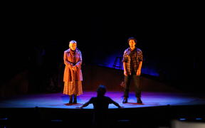 Lisa Crawley and Adam Ogle in ONCE: The Musical