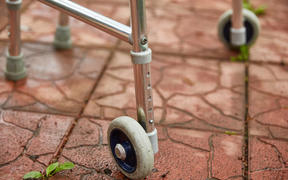 Wheel walker for adults. Close-up