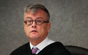Judge Bill Hastings at the sentencing of CentrePort after the death of Mark Samoa.