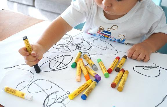 Children start to draw their interpretation of a human form from the age of three or four.