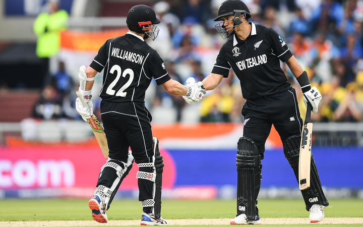 Kane Williamson and Ross Taylor during the Black Caps win over India.
