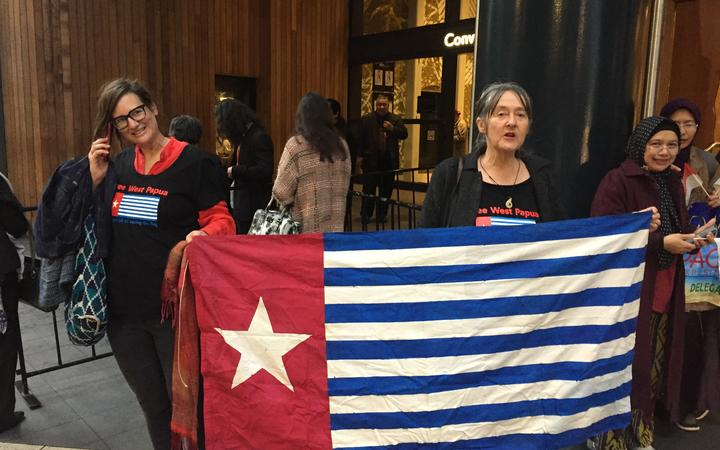 West Papua protest at Indonesia's Pacific Exposition in Auckland