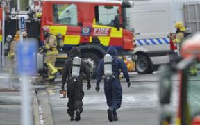 The bomb squad detonates an unstable chemical in South Dunedin.