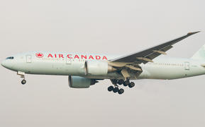 A Boeing 777-200 from the Canadian national airline Air Canada.