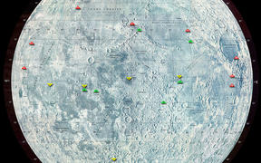 Map of the Moon landing
