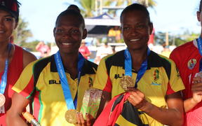 Vanuatu defeated Tahiti in straight sets to win the women's beach volleyball final at the Pacific Games