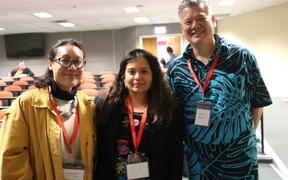 Christina Sun,, Jessica Hernandez and Dr Mike Spencer