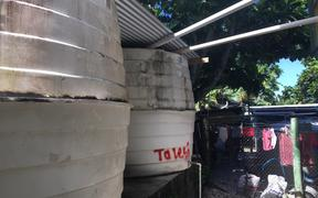 Water tanks on Funafuti are being treated with larvicide to control an outbreak of dengue.