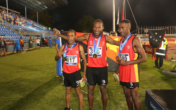 PNG made a clean sweep of the men's 3000m steeplechase.