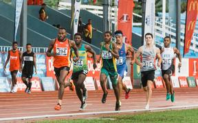 Simbai Kaspar led home a 1-2-3 finish for PNG in the men's 3000m steeplechase.