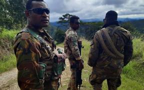 PNG soldiers who have been sent to Hela Province