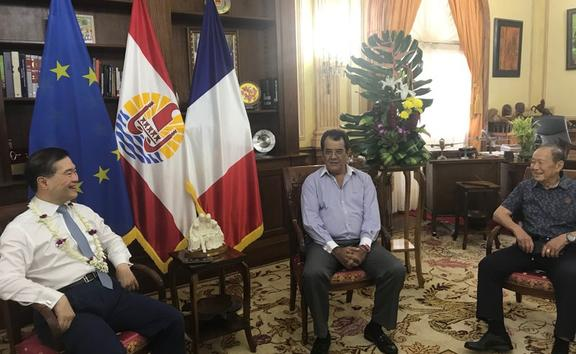 French Polynesia's president hosts Hong Kong executive Lee George Lam