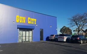 The Gun City mega store soon to be opened in Christchurch.