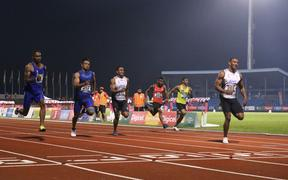 Banuve Tabakaucoro set a new Pacific Games record in the men's 100m final.