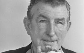 Ernie Abbott, with cauliflower.