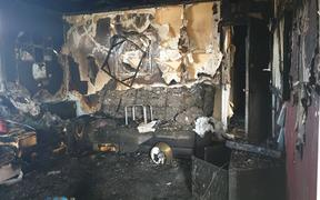 A Taranaki couple's Waitara home was gutted by a blaze caused by an electric blanket.