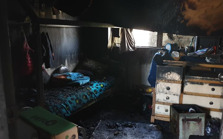 Brittany and Lucky Nawani say they'll never use an electric blanket again after one gutted their Waitara home.