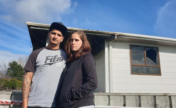 Lucky and Brittany Nawani say the community rallied around them after their home was destroyed by a fire.