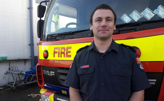 Fire and Emergency's New Plymouth station specialist fire investigator Andrew Cotter.