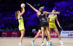 Silver Ferns play Australia at netball World Cup 2019.