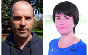 Chch City Councillor Aaron Keown and Dawn Baxendale, council chief executive appointed July 2019