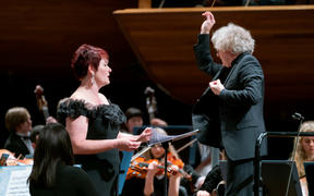 Catherine Carby with James Judd and National Youth Orchestra