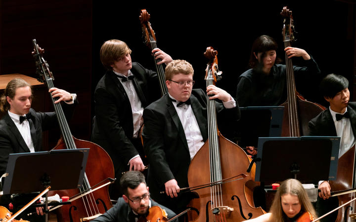 Double basses of National Youth Orchestra