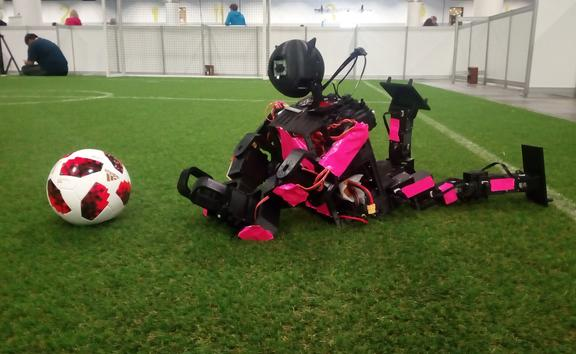 New Zealand's very own football playing robot.