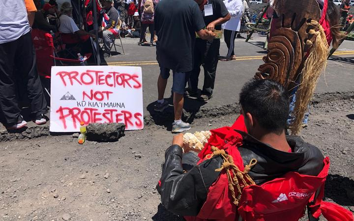 The protest at Mauna Kea has been on-going for the past week.