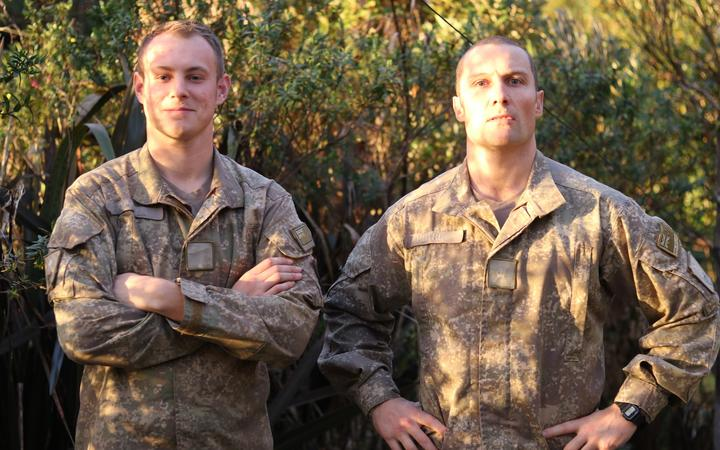 Private Nathan Connell and Major Dennis Peters have arrived at Fox River on the West Coast to aid in the rubbish spill clean-up.