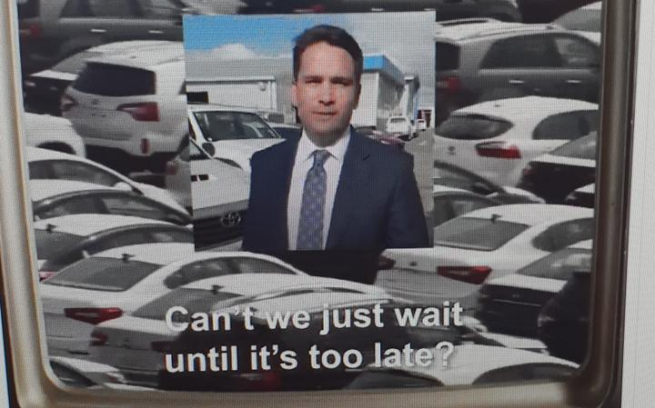 A screenshot from the now-deleted Green Party ad.