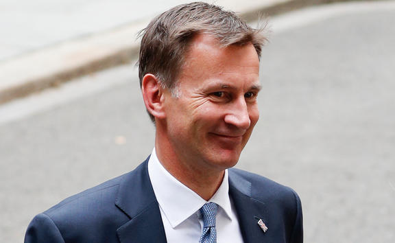Britain's Foreign Secretary Jeremy Hunt leaves 10 Downing Street in central London on 22 July, 2019.