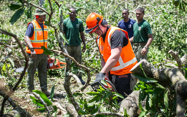 Defence Force engineers are helping clear tree and rebuild schools and homes that were destroyed.
