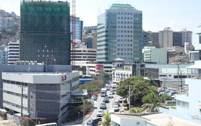 Downtown Port Moresby, Papua New Guinea.
