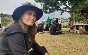 Pania Newton listens to stories about the Pākaitore occupation in 1995.