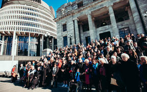 A parliamentary vote was witnessed by around 300 iwi from the central North Island.