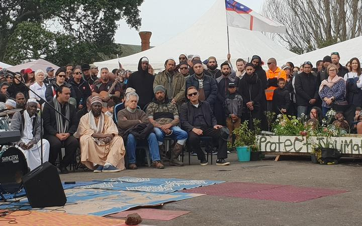 Religious groups, from Baptists to Muslims, came to Ihumātao to pray over the land.