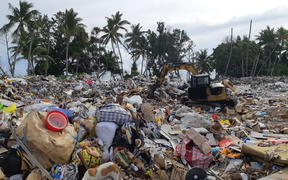 Rubbish, plastic waste, trash in Tuvalu