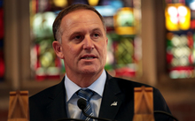 110314. Photo Diego Opatowski / RNZ. Prime Minister John Key announced that a referendum about a new flag will be held during the next parliamentary term.