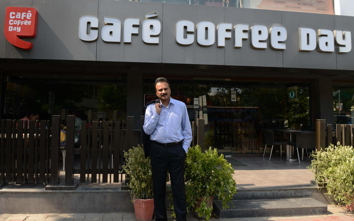 Owner of the Café Coffee Day chain VG Siddhartha poses for a photograph in 2015.