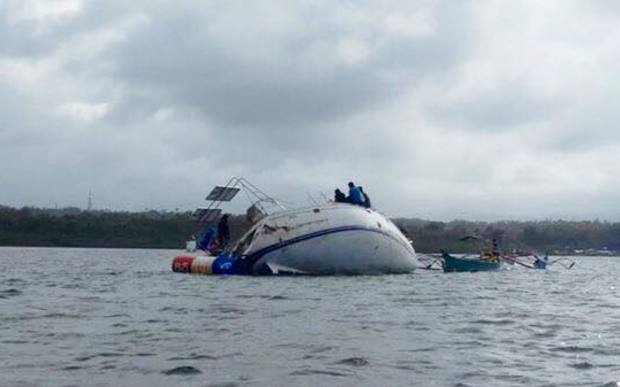 The yacht, Sajo, was found drifting off the southern Philippines. A body was found inside.
