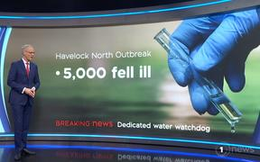 the water scoop on TVNZ1 News last Wednesday.