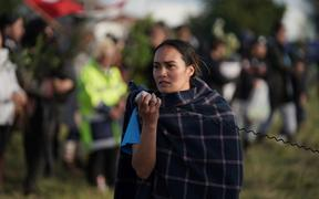 SOUL co-leader Pania Newton has been leading the protest at Ihumātao.